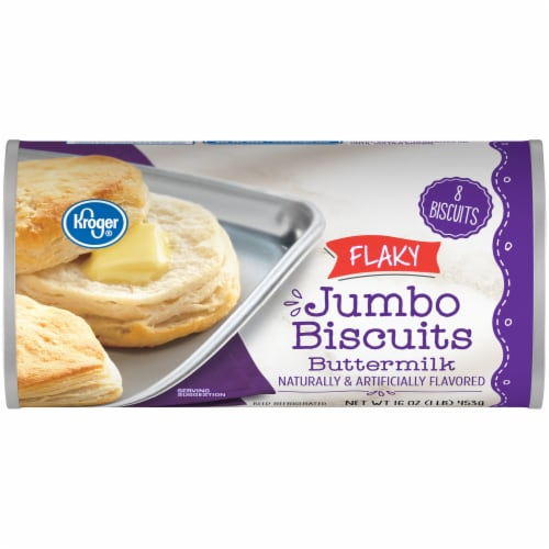 Kroger® Flaky Buttermilk Jumbo Biscuits Perspective: front