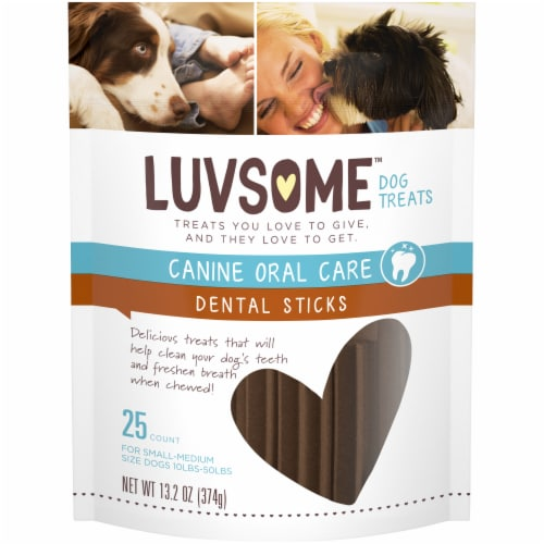 Luvsome™ Dental Sticks Dog Treats Perspective: front