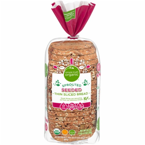 Simple Truth Organic™ Sprouted Seeded Thin Sliced Bread Perspective: front