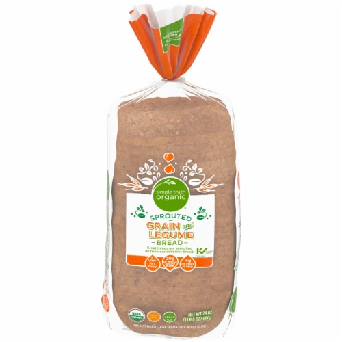 Simple Truth Organic® Sprouted Grain and Legume Bread Perspective: front