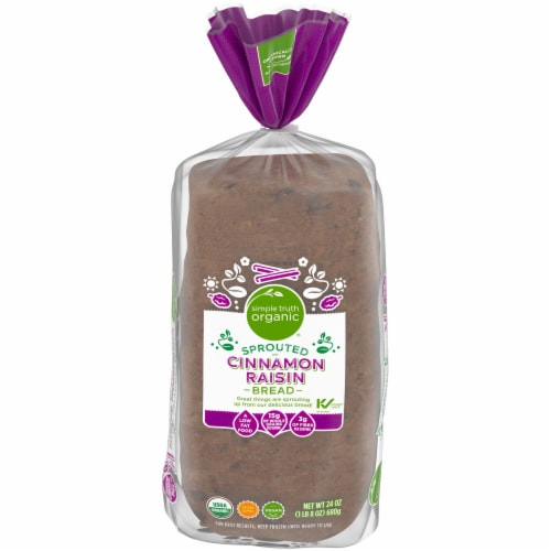 Simple Truth Organic® Sprouted Cinnamon Raisin Bread Perspective: front