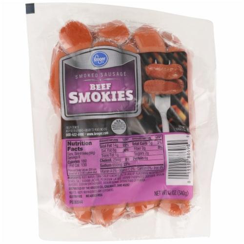 Kroger® Smoked Beef Sausage Smokies Perspective: front