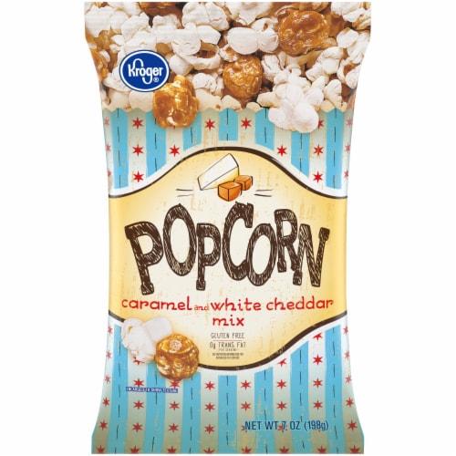 Kroger® Caramel & White Cheddar Popcorn Perspective: front