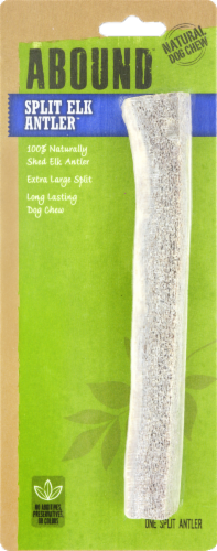 ABOUND™ Extra Large Split Elk Antler Natural Dog Chew Perspective: front