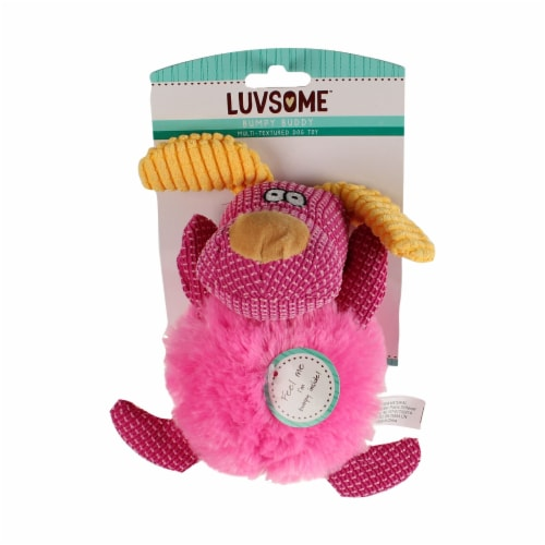Luvsome™ Bumpy Buddy Dog Toy Assorted Perspective: front