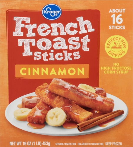 Kroger Cinnamon French Toast Sticks Perspective: front