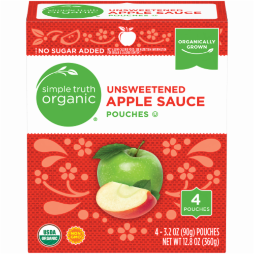 Simple Truth Organic® Unsweetened Applesauce Pouches Perspective: front