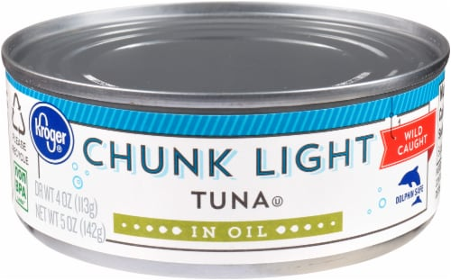 Kroger® Chunk Light Tuna in Oil Perspective: front