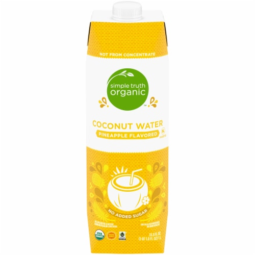 Simple Truth Organic™ Pineapple Flavored Coconut Water Perspective: front