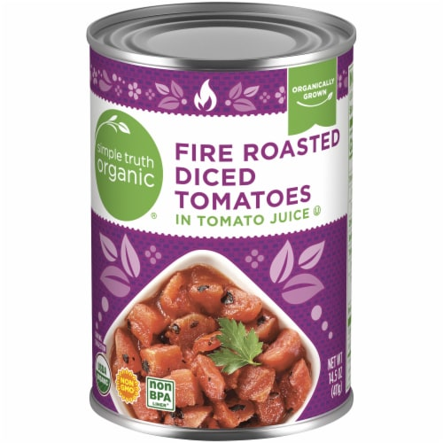 Simple Truth Organic® Fire Roasted Diced Tomatoes Perspective: front