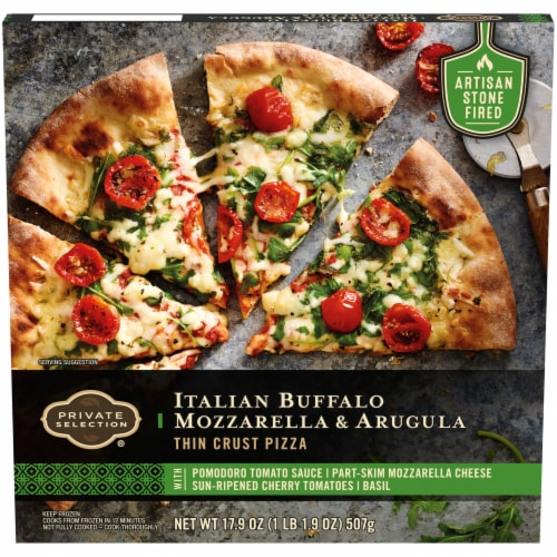 Private Selection® Italian Buffalo Mozzarella & Arugula Thin Crust Pizza Perspective: front