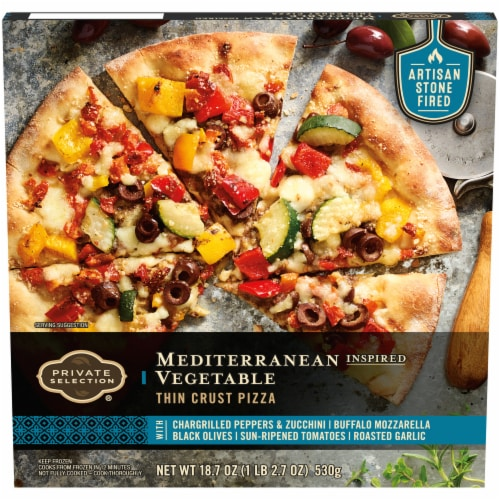 Private Selection™ Mediterranean Inspired Vegetable Thin Crust Pizza Perspective: front