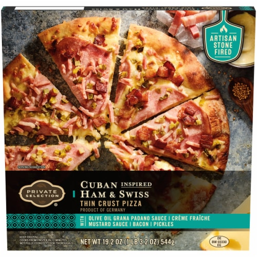 Private Selection® Cuban Inspired Ham & Swiss Thin Crust Pizza Perspective: front
