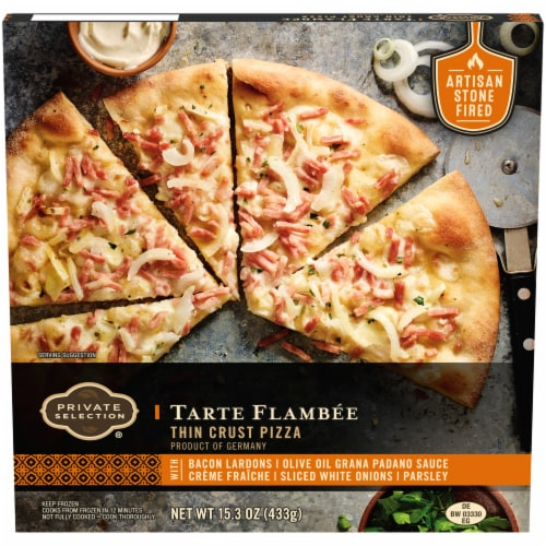 Private Selection® Tarte Flambee Thin Crust Pizza Perspective: front