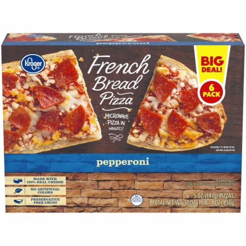 Kroger® Pepperoni French Bread Pizza Perspective: front