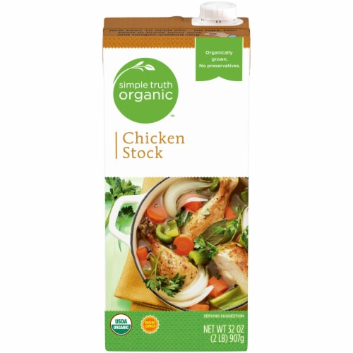 Simple Truth Organic™ Chicken Stock Perspective: front