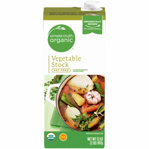 Simple Truth Organic™ Fat Free Vegetable Stock Perspective: front