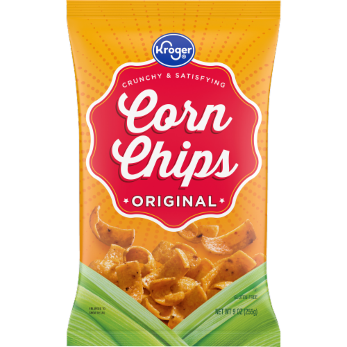 Kroger® Original Corn Chips Perspective: front