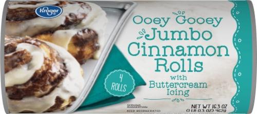 Kroger® Ooey Gooey Jumbo Cinnamon Rolls with Icing Perspective: front