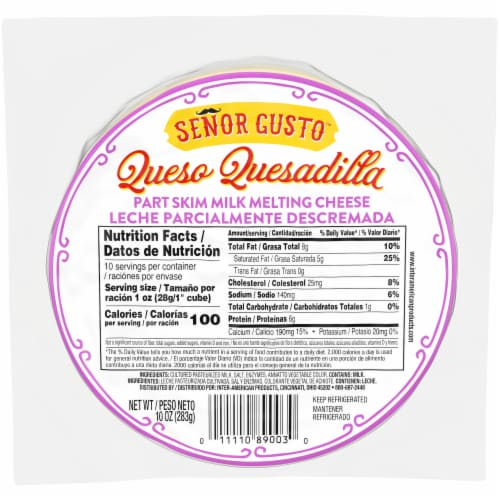Señor Gusto™ Queso Quesadilla Cheese Perspective: front