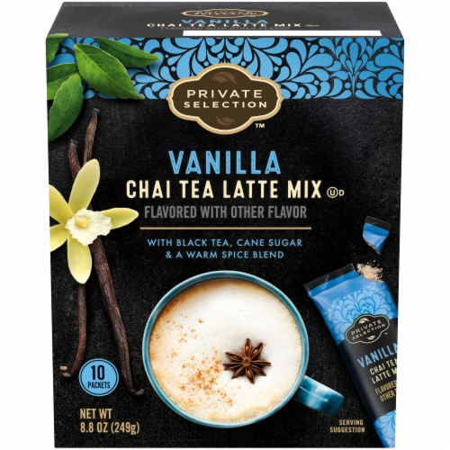 Private Selection™ Vanilla Chai Tea Latte Mix Packets Perspective: front