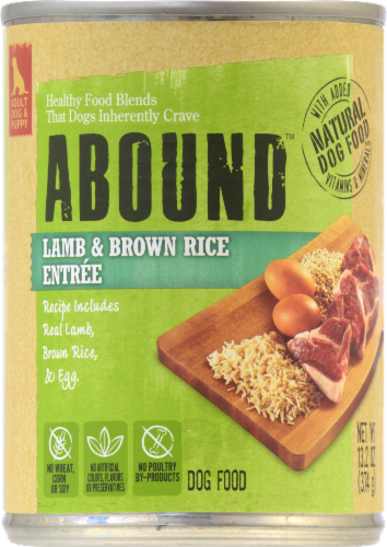 ABOUND™ Lamb & Brown Rice Entree Dog Food Perspective: front