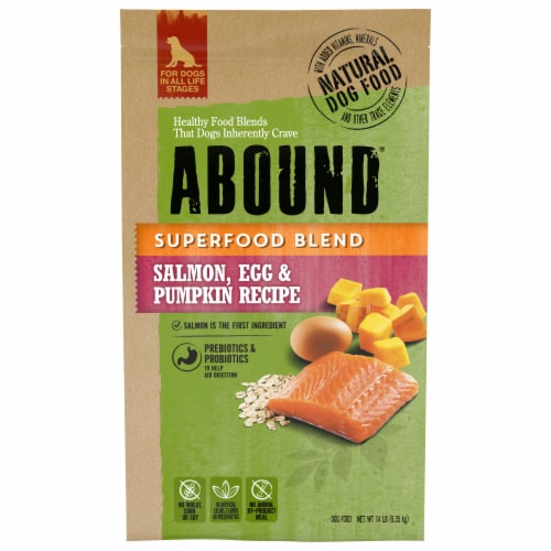 ABOUND® Superfood Blend Salmon Egg & Pumpkin Recipe Dog Food Perspective: front