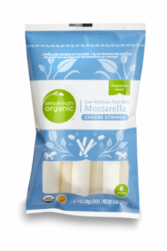 Simple Truth Organic™ Mozzarella Cheese Strings Perspective: front