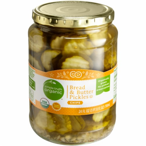 Simple Truth Organic™ Bread & Butter Pickles Chips Perspective: front