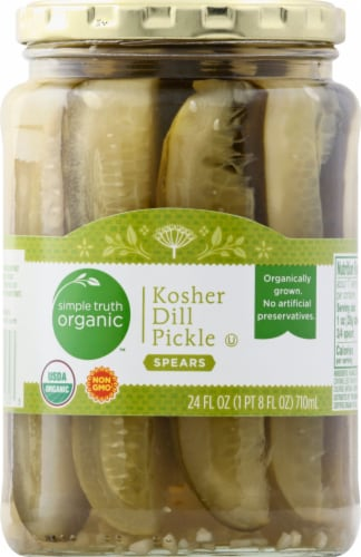 Simple Truth Organic™ Kosher Dill Pickle Spears Perspective: front