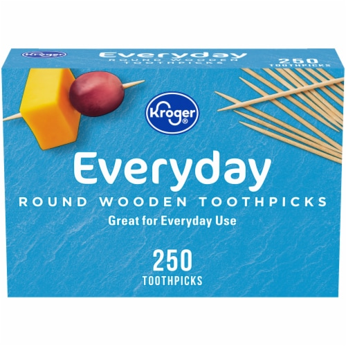 Kroger®  Round Wooden Toothpicks 250 Count Perspective: front