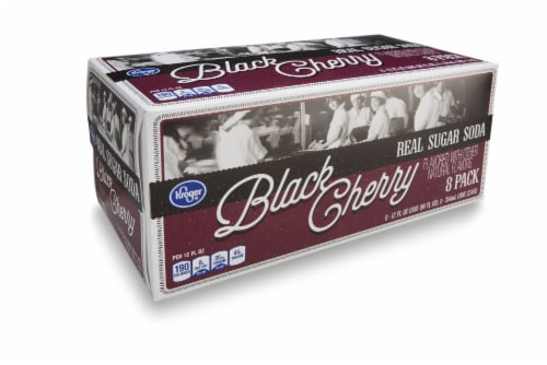Kroger® Real Sugar Black Cherry Soda Perspective: front
