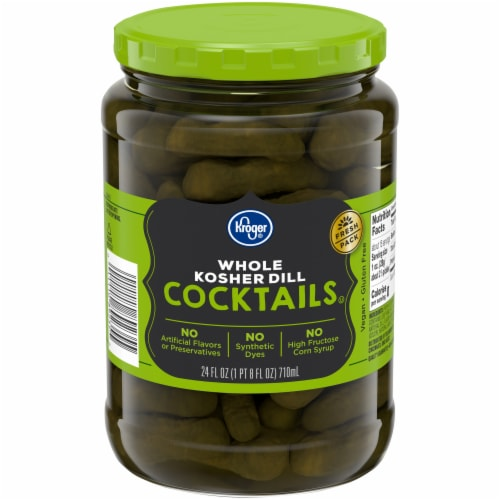 Kroger® Whole Kosher Dill Cocktail Pickles Perspective: front