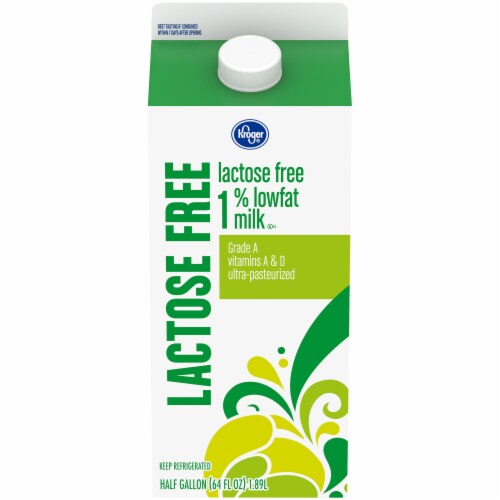 Kroger® Lactose Free 1% Low Fat Milk Perspective: front
