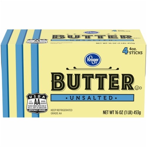 Kroger® Unsalted Butter Sticks Perspective: front