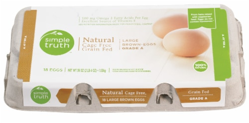 Simple Truth™ Natural Cage Free Grade A Large Brown Eggs Perspective: front