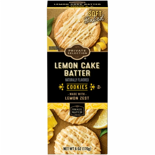 Private Selection® Lemon Cake Batter Cookies Perspective: front