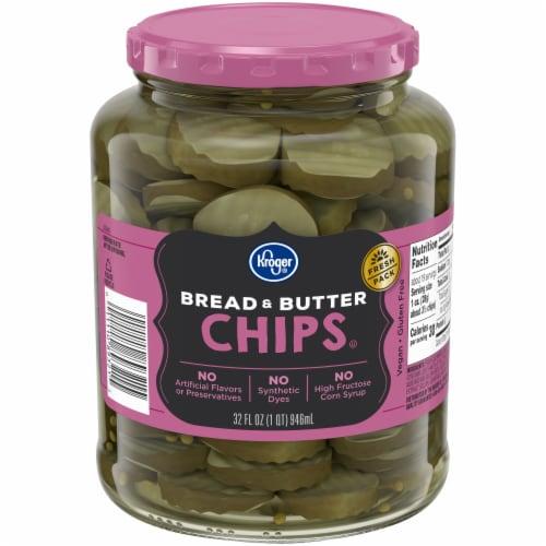 Kroger® Bread & Butter Pickle Chips Perspective: front