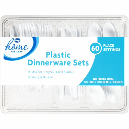 Kroger Home Sense Plastic Dinnerware Sets Perspective front  sc 1 st  Food 4 Less : kroger dinnerware sets - Pezcame.Com