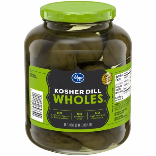 Kroger® Kosher Whole Dill Pickles Perspective: front