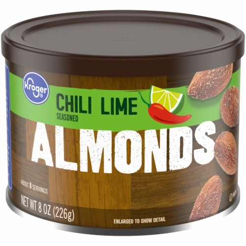 Kroger® Chili Lime Seasoned Almonds Perspective: front
