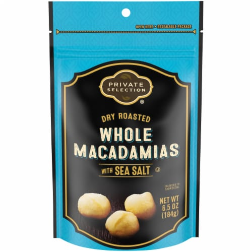 Private Selection® Dry Roasted Whole Macadamia Nut with Sea Salt Perspective: front