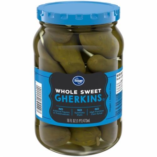 Kroger® Whole Sweet Gherkins Pickles Perspective: front