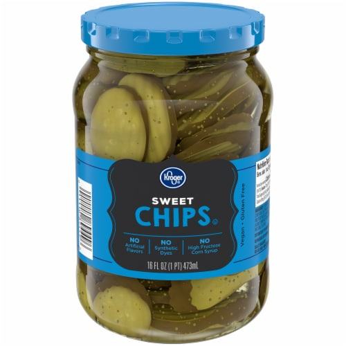 Kroger® Sweet Pickle Chips Perspective: front