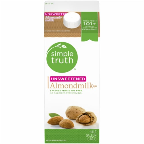 Simple Truth™ Unsweetened Almondmilk Perspective: front