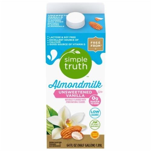 Simple Truth® Unsweetened Vanilla Almondmilk Perspective: front