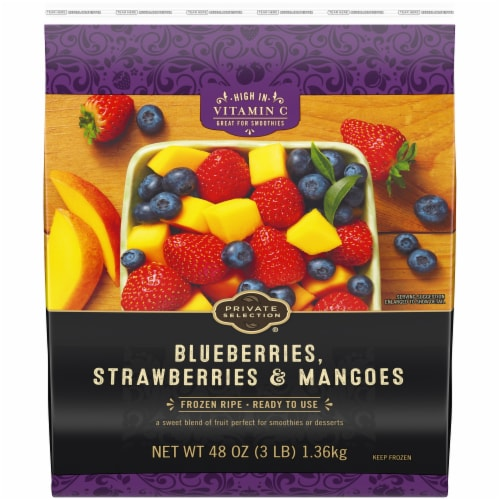 Private Selection® Blueberries Strawberries & Mangoes Perspective: front
