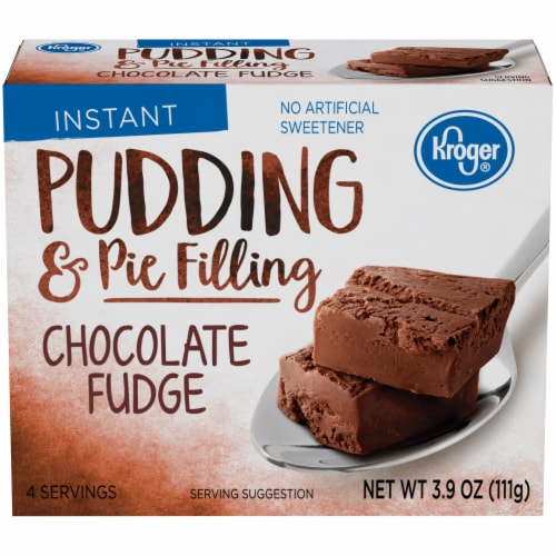 Kroger® Chocolate Fudge Instant Pudding & Pie Filling Perspective: front