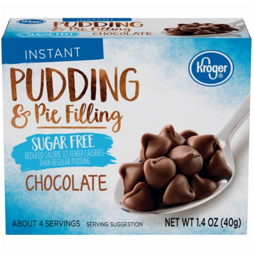 Kroger® Instant Sugar Free Chocolate Pudding & Pie Filling Perspective: front