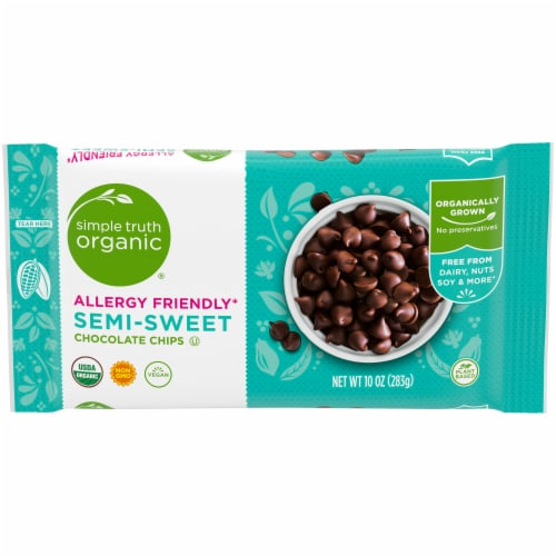 Simple Truth Organic® Semi-Sweet Vegan Chocolate Chips Perspective: front